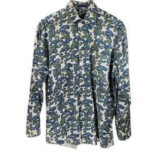 Alan Flusser | Button Down Paisley Men's Shirt M